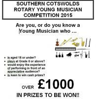 SOUTHERN COTSWOLDS ROTARY YOUNG MUSICIAN COMPETITION, 2015