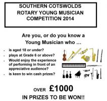 SOUTHERN COTSWOLDS ROTARY YOUNG MUSICIAN COMPETITION, 2014