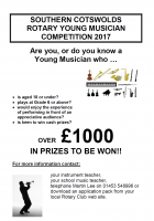 SOUTHERN COTSWOLDS ROTARY YOUNG MUSICIAN COMPETITION, 2017