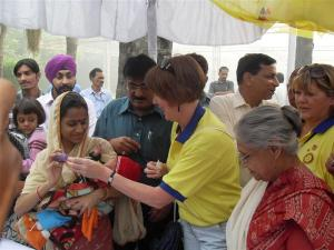 Vaccinating in Delhi
