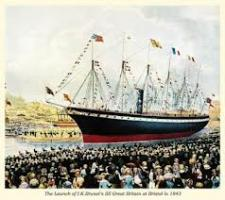 The launch of SS Great Britain