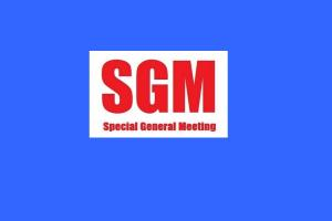 Lunch: Special General Meeting