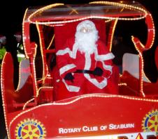 Santa Sleigh collections in Seaburn, Fulwell and Roker