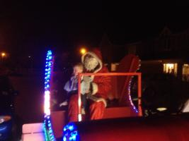 Santa and his Sleigh visit Wootton Fields