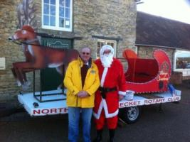 Santa and his Sleigh visit Hunsbury Meadows (near Swan Valley)