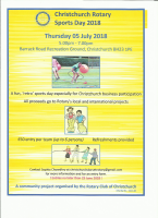 Christchurch Rotary Sports Day