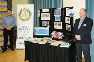 Rotary display at Eyemouth School