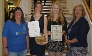 Prize giving at the Eyemouth High School