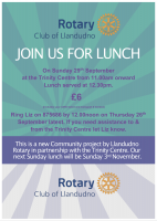 Llandudno Rotary launches Sunday lunch initiative