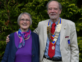 Richard Wynn, President 2019-2020 with his wife Rosie.