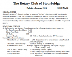 Club Bulletin January 2015