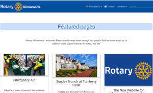 The New Website for Kilmarnock Rotary - all you need to know!