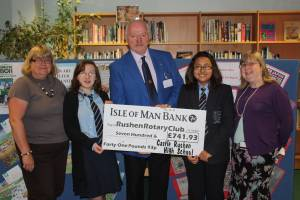 Rotary Shelterbox Appeal Donation from Castle Rushen High School