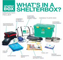 Aqua & Shelterbox Sent to Disaster Zones