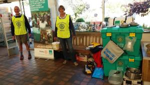 Rotarians collecting for ShelterBox