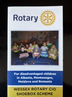 Eastleigh Rotary collects Shoeboxes for Rotary Christmas Shoebox Appeal