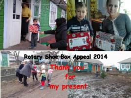 ROTARY CHRISTMAS SHOE BOX  APPEAL