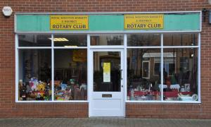 The 2012 charity shop in Royal Wootton Bassett.