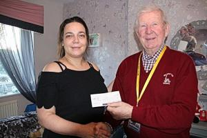 Donations cheque presentations