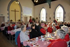 We support the pensioners Christmas lunch in Knighton