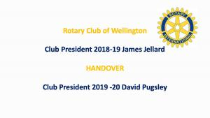 President's Washup & Club Handover