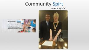 Dinner - Speaker Neville Jones from Community Spirit Newton Aycliffe