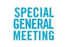 Special General Meeting, 6.15 for 6.30pm