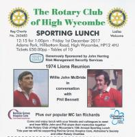 SPORTING LUNCH - 1974 LIONS REUNION
