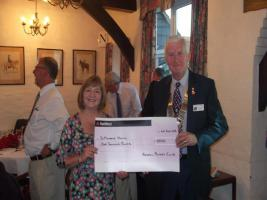 Club gives to St Michael's Hospice and hears about RYLA