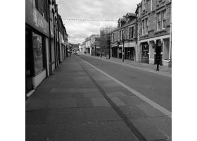 A 'Pandemically' Silent High Street.  (taken at 11am)