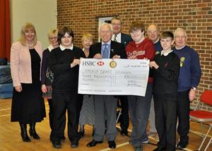 18 November 2010 - we donate £3,000 to Stony Dean School's Polytunnel Project