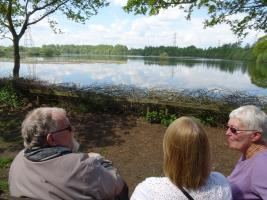 Over 30 walkers took part in a sponsored stroll at the Whisby Country Park, on a glorious Sunday morning. There was also time to take in the beauty of the place - like these three.