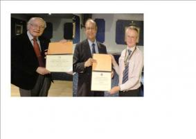 Awards for 40 years service in Rotary Rtn Subhash Hora & Rtn John Fowler