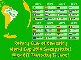 The Rotary Club of Oswestry World Cup 2014 Sweepstake