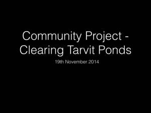 Tarvit Ponds Cleanup - November 2014
