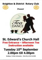 Our third Tea Dance and afternoon tea for the community