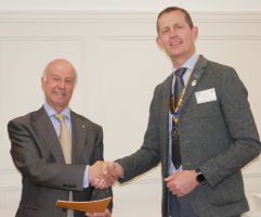 The Rotary Club of Rayleigh Mill welcomes new member Terry Morris