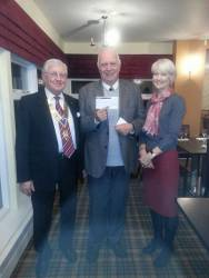 The Hall Homeless Project Cheque Presentation