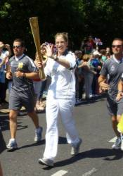 The Olympic torch goes through Hornchurch 22.7.12