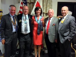 Chris Sumner Installed as District Governor