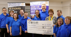 The Rotary Club of Rayleigh Mill helps support the Music Man Project
