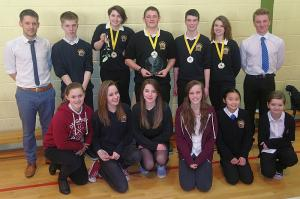 The Young Technologist winners, two runner up teams and their teacher