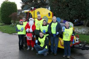 Street Collection with Tilly and Santa in College Ward