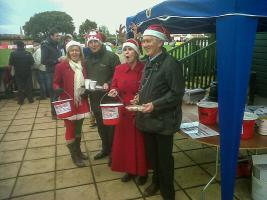 Christmas Appeal Tin Shake at the Rugby Club