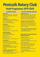 Our Youth programme and other events