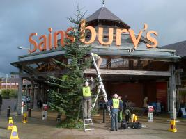 Tree of Light 2013 - Put Up Day and Bucket Collection