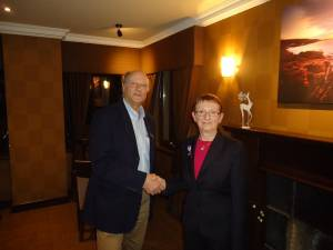 District Head of Foundation Janet Lowe Visits Skye Rotary Club