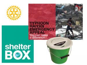Rotary Bucket Collection @ Sainsbury's for ShelterBox Typhoon Haiyan Appeal