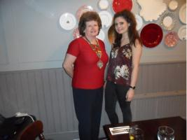 Rotary Club President Alison Porter with Youth Exchange Student Charlotte Longstaff.