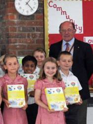 9-17 July 2013 - Usborne Dictionaries presented to local school leavers